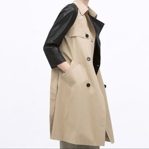 Zara Leather Trench Coat